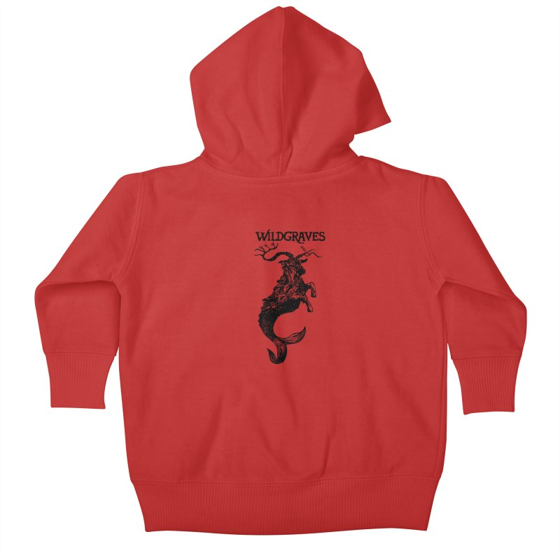 Near Drowning- Black Kids Baby Zip-Up Hoody by Wildgraves Merch