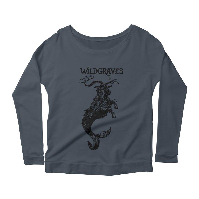 Near Drowning- Black Women's Scoop Neck Longsleeve T-Shirt by Wildgraves Merch