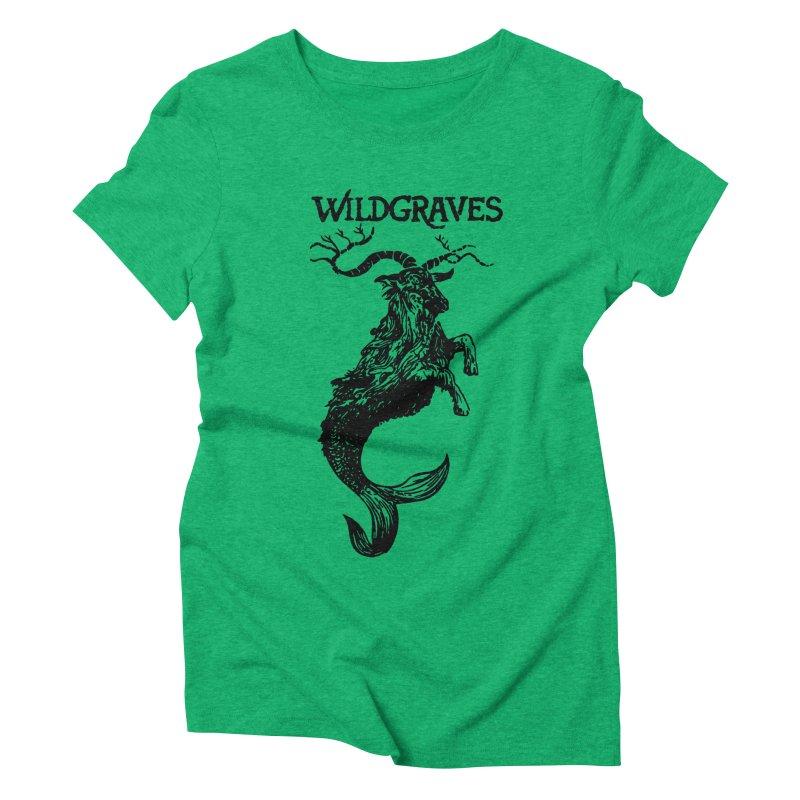 Near Drowning- Black Women's Triblend T-Shirt by Wildgraves Merch