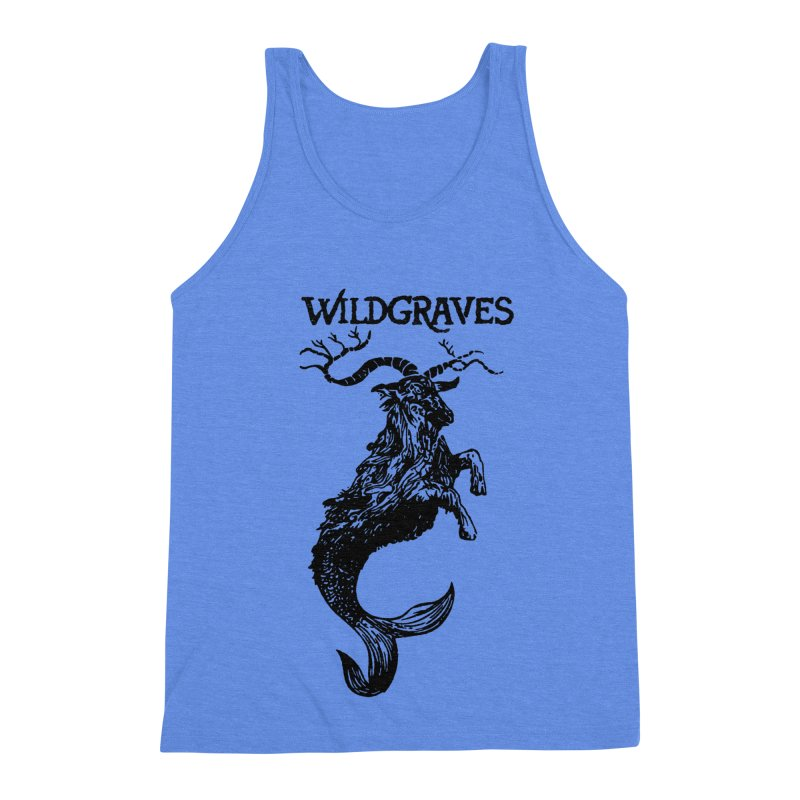 Near Drowning- Black Men's Triblend Tank by Wildgraves Merch