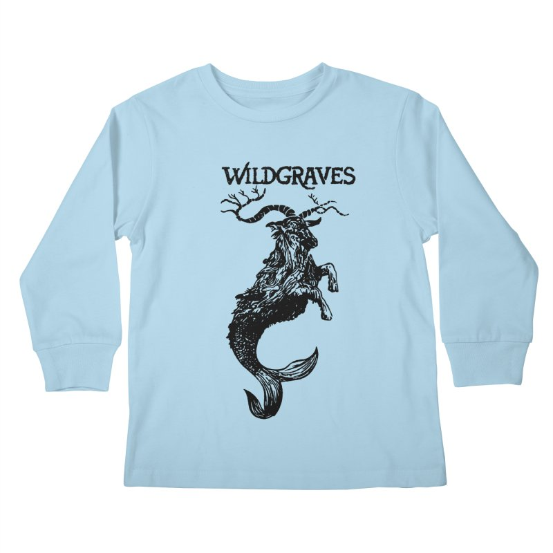 Near Drowning- Black Kids Longsleeve T-Shirt by Wildgraves Merch