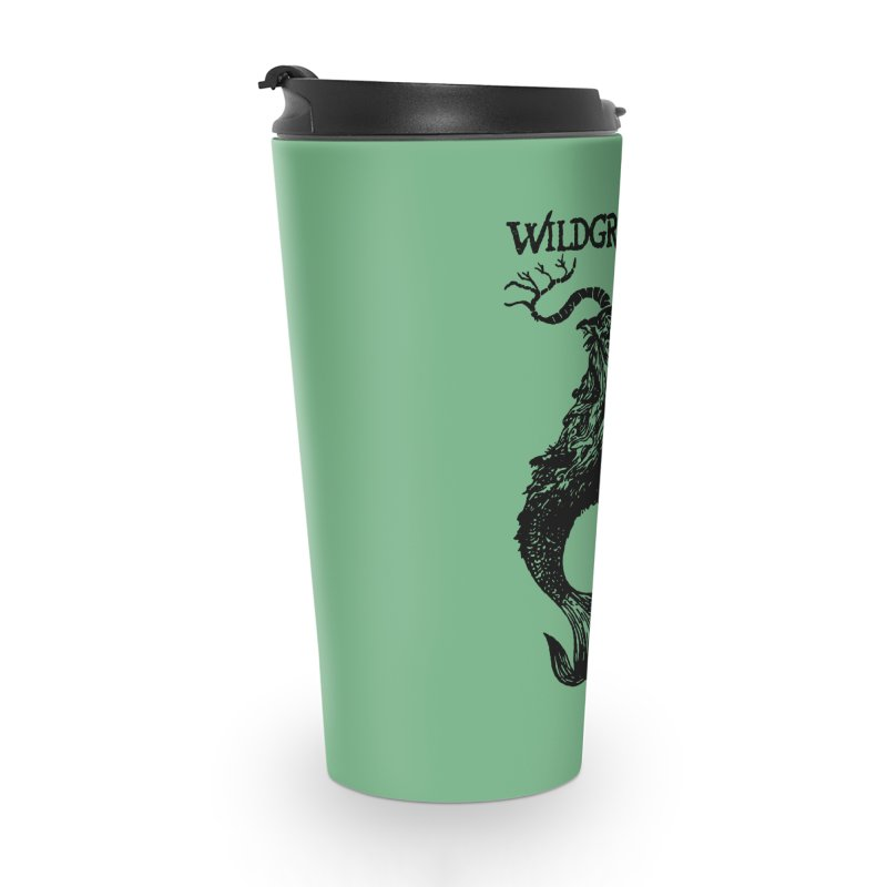 Near Drowning- Black Accessories Travel Mug by Wildgraves Merch