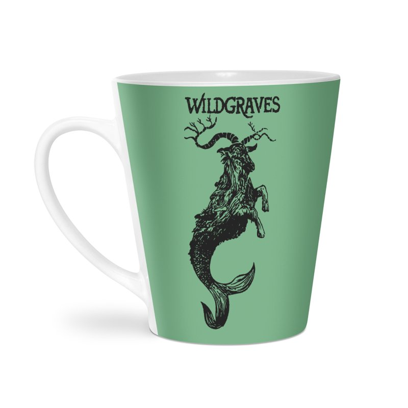 Near Drowning- Black Accessories Latte Mug by Wildgraves Merch