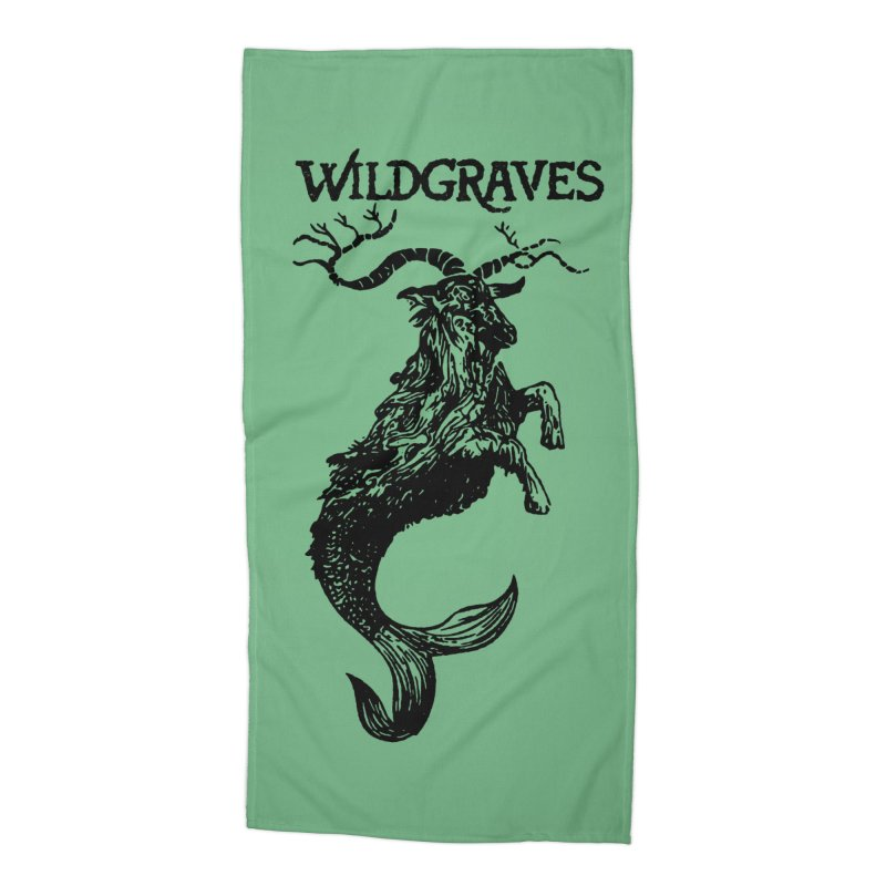 Near Drowning- Black Accessories Beach Towel by Wildgraves Merch