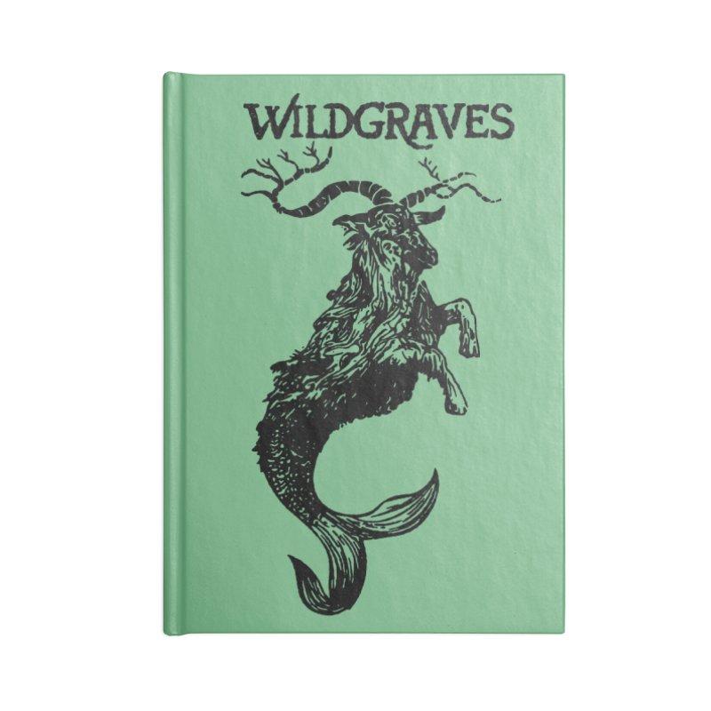 Near Drowning- Black in Blank Journal Notebook by Wildgraves Merch