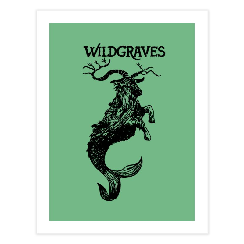 Near Drowning- Black Home Fine Art Print by Wildgraves Merch