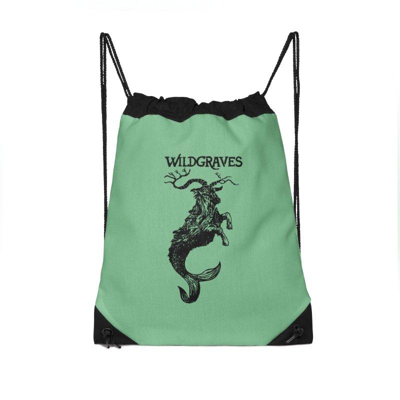 Near Drowning- Black Accessories Drawstring Bag Bag by Wildgraves Merch