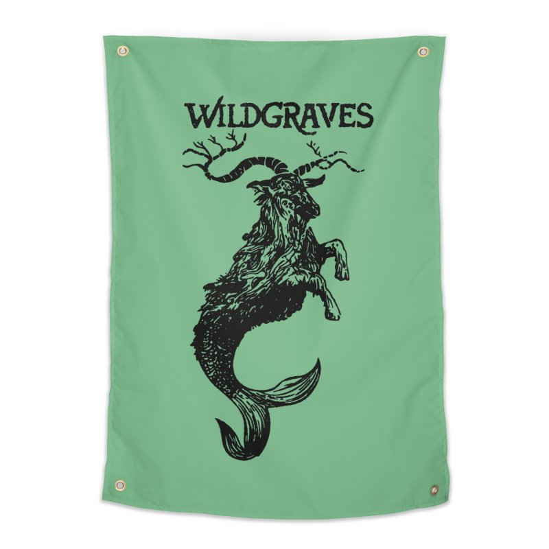 Near Drowning- Black Home Tapestry by Wildgraves Merch