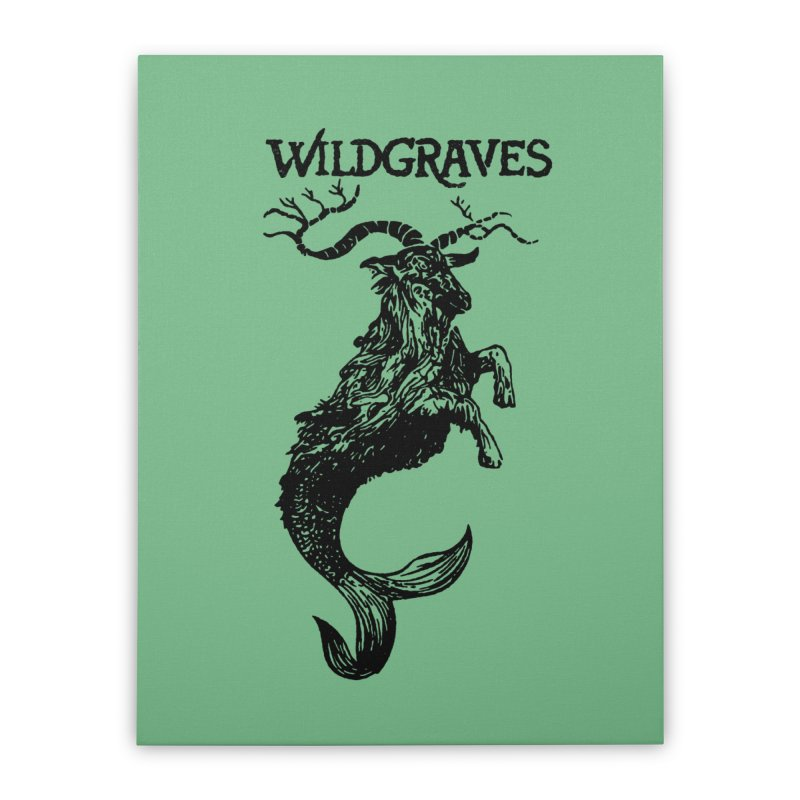 Near Drowning- Black Home Stretched Canvas by Wildgraves Merch