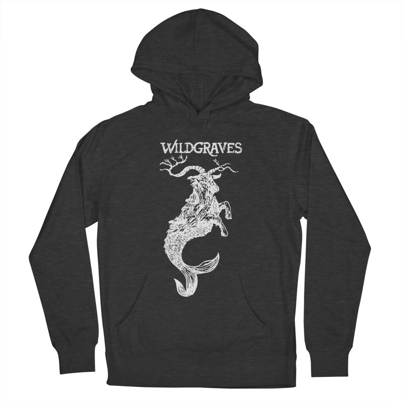 Near Drowning - White Men's French Terry Pullover Hoody by Wildgraves Merch