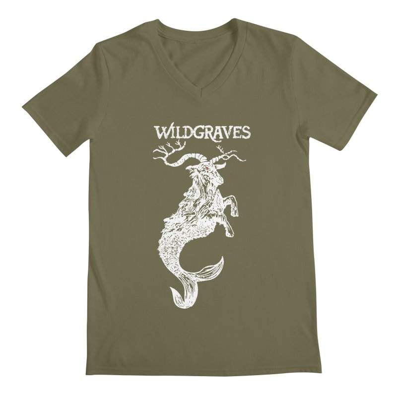 Near Drowning - White Men's Regular V-Neck by Wildgraves Merch