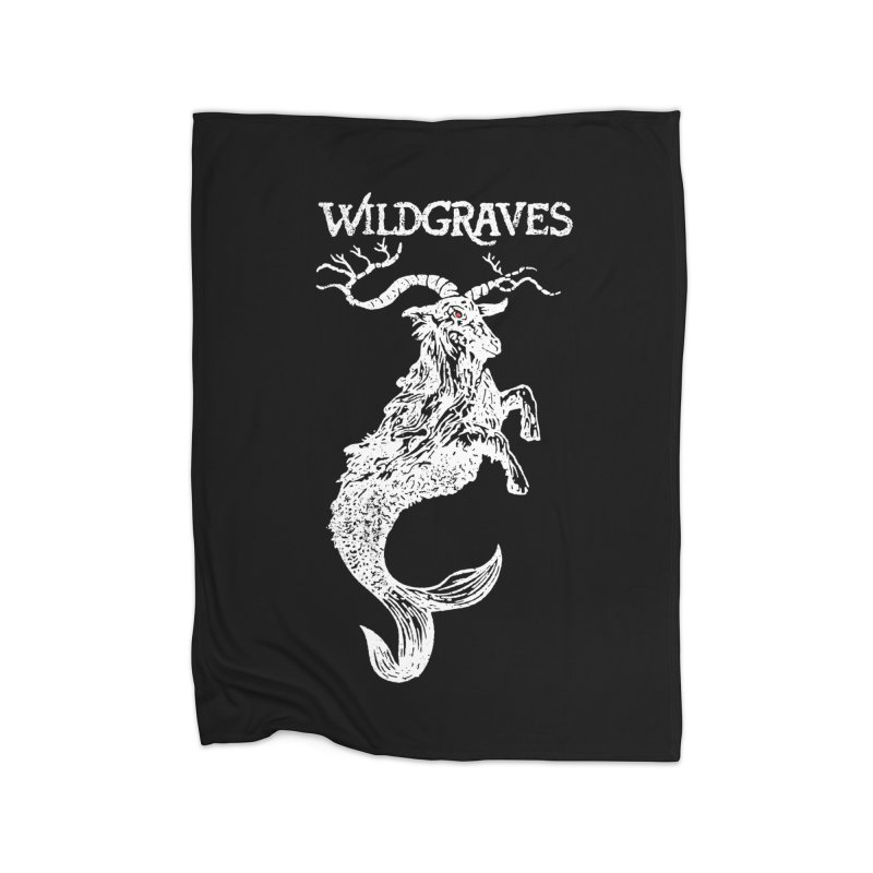 Near Drowning - White Home Fleece Blanket Blanket by Wildgraves Merch