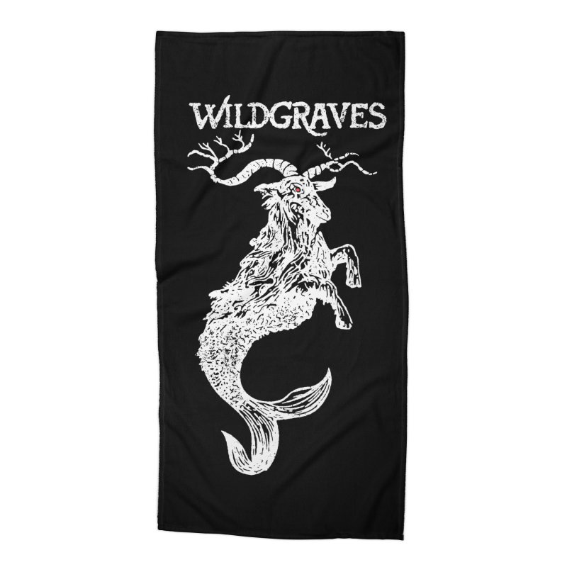Near Drowning - White Accessories Beach Towel by Wildgraves Merch