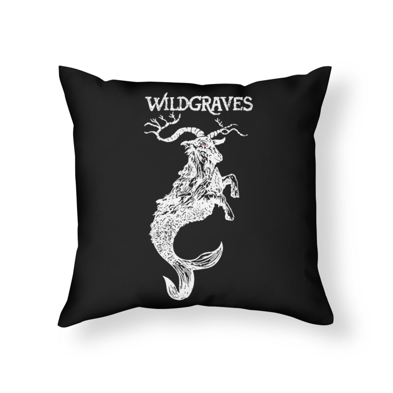 Near Drowning - White Home Throw Pillow by Wildgraves Merch