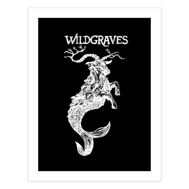Near Drowning - White Home Fine Art Print by Wildgraves Merch