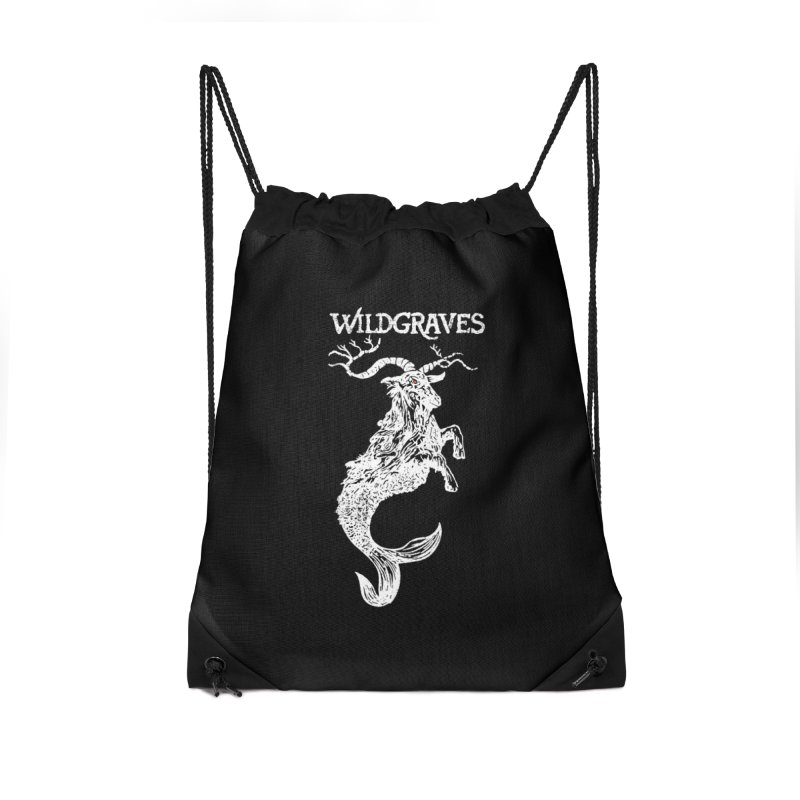 Near Drowning - White in Drawstring Bag by Wildgraves Merch
