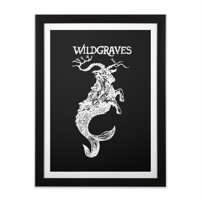 Near Drowning - White Home Framed Fine Art Print by Wildgraves Merch