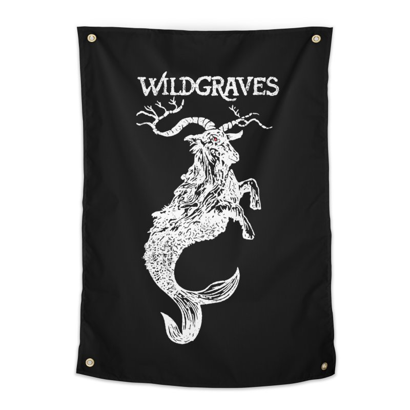 Near Drowning - White in Tapestry by Wildgraves Merch