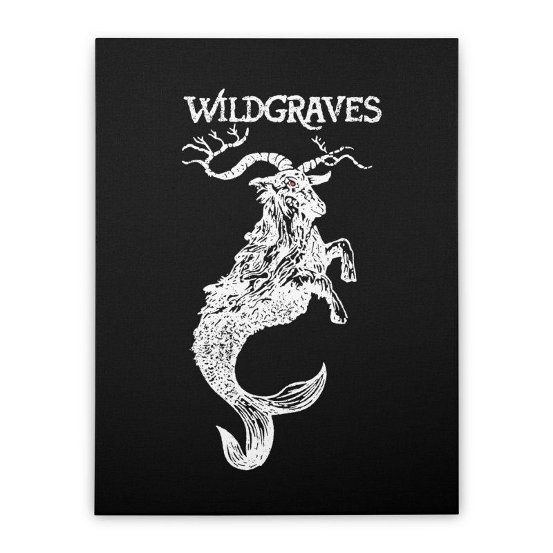 Near Drowning - White Home Stretched Canvas by Wildgraves Merch