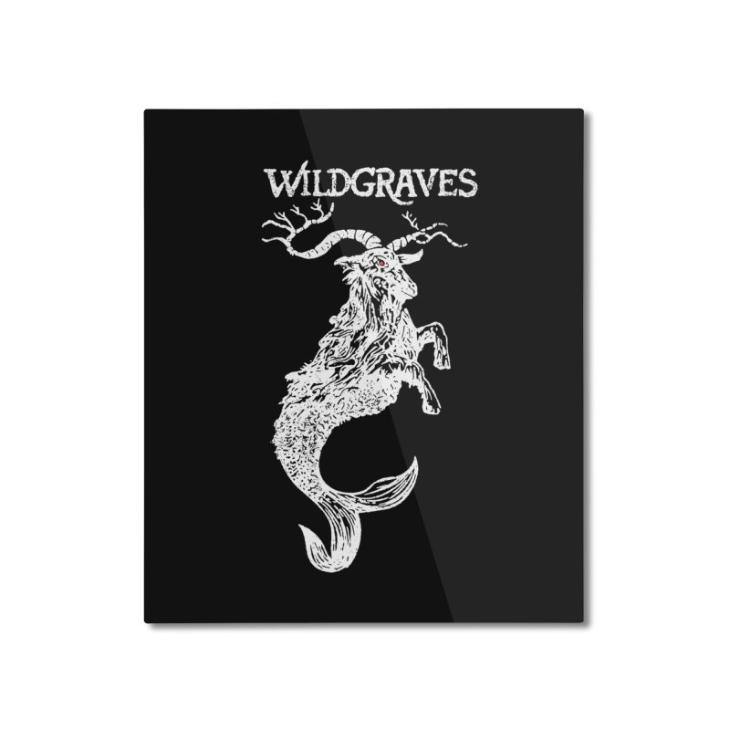 Near Drowning - White Home Mounted Aluminum Print by Wildgraves Merch
