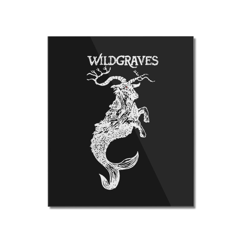 Near Drowning - White Home Mounted Acrylic Print by Wildgraves Merch