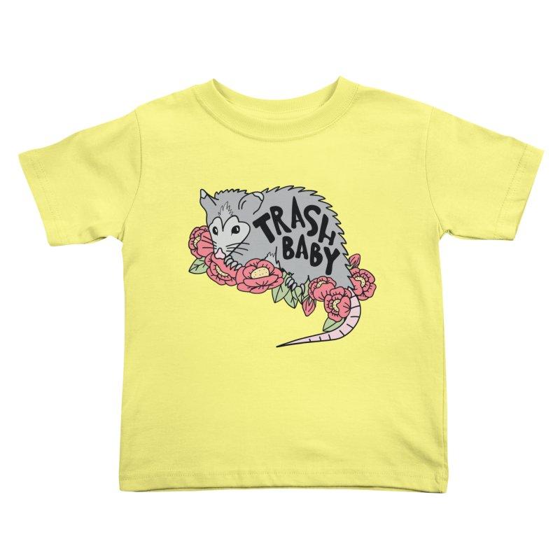 Trash Baby Kids Toddler T-Shirt by Wild Hunt