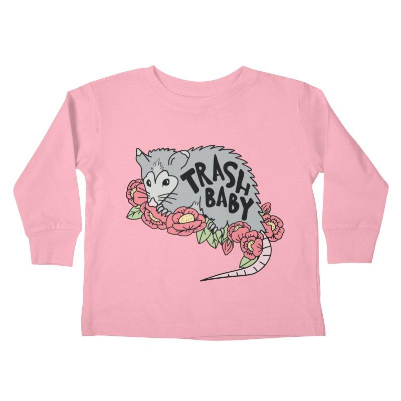 Trash Baby Kids Toddler Longsleeve T-Shirt by Wild Hunt