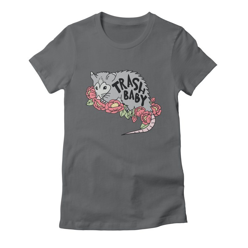 Trash Baby Women's Fitted T-Shirt by Wild Hunt