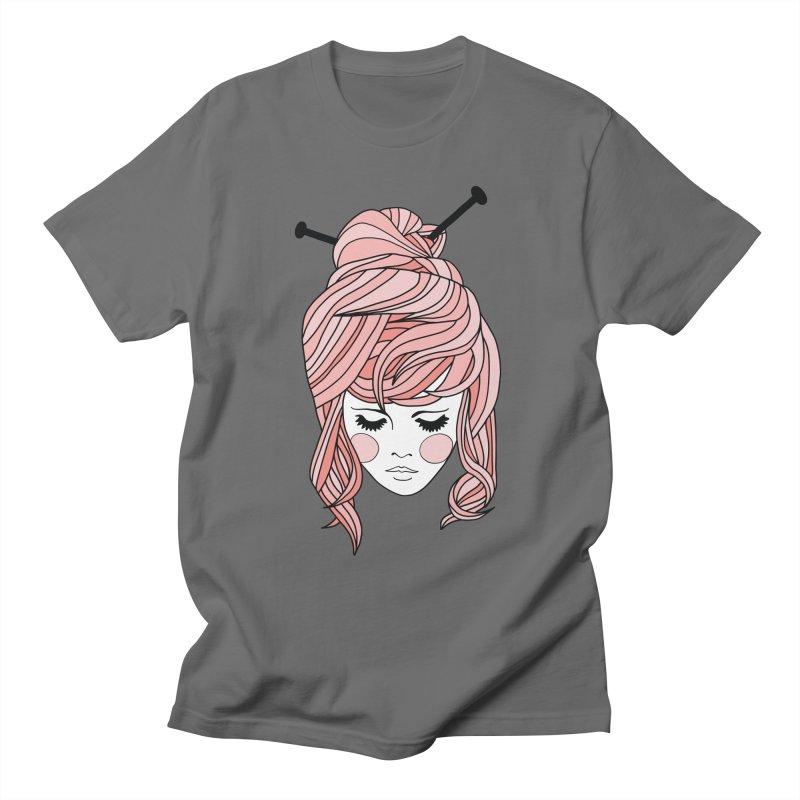 Knitter Girl Men's T-Shirt by Wild Hunt