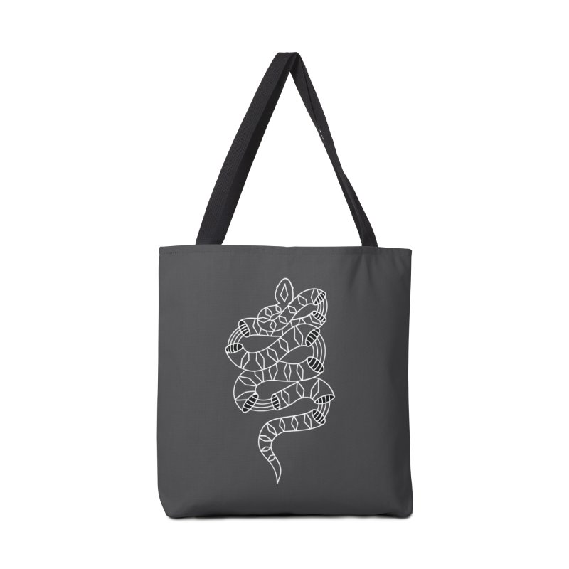 Snake- White Accessories Tote Bag Bag by Wild Hunt