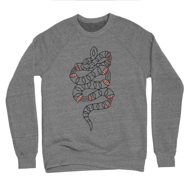 Snake- Black Women's Sponge Fleece Sweatshirt by Wild Hunt