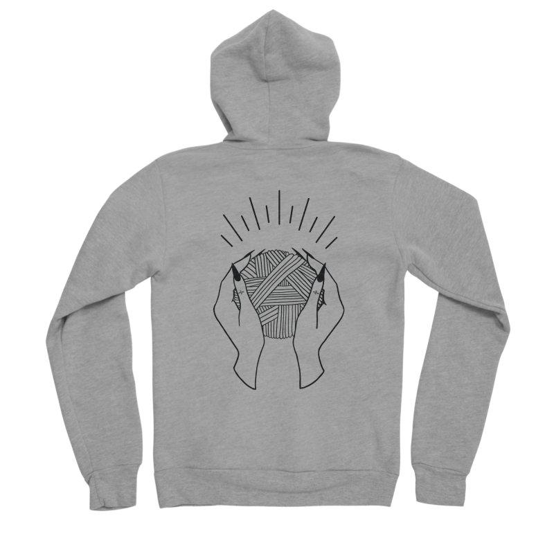 Yarnbearer- Black Men's Sponge Fleece Zip-Up Hoody by Wild Hunt