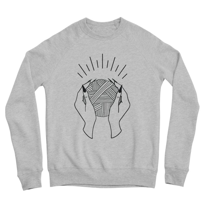 Yarnbearer- Black Women's Sponge Fleece Sweatshirt by Wild Hunt