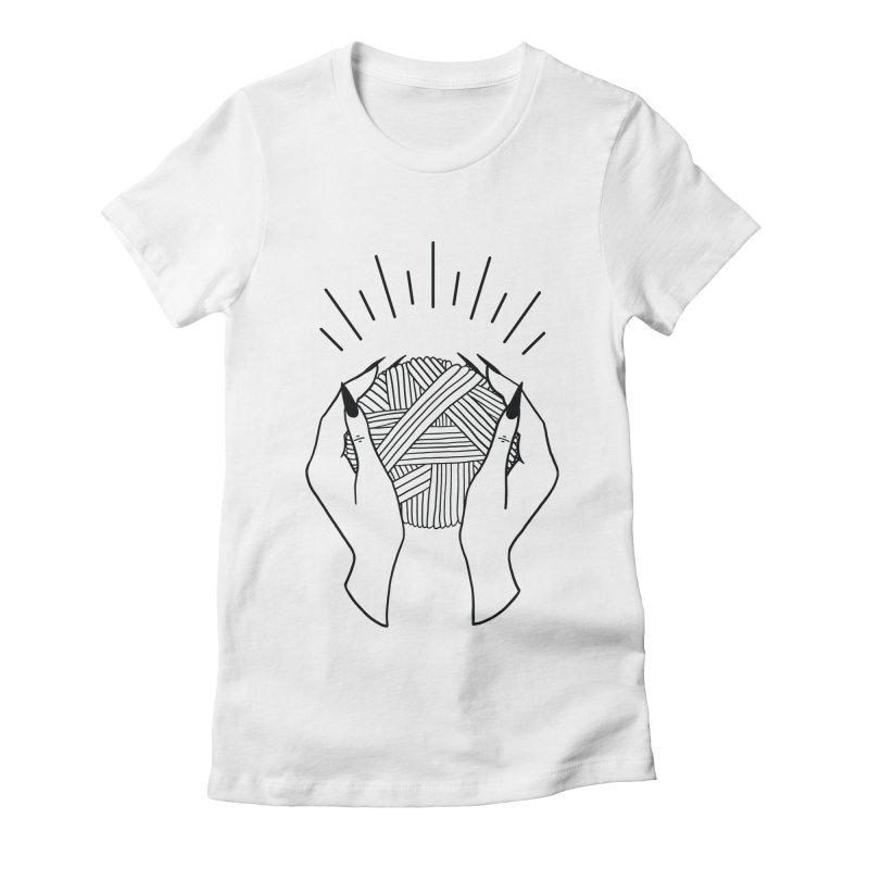 Yarnbearer- Black Women's Fitted T-Shirt by Wild Hunt