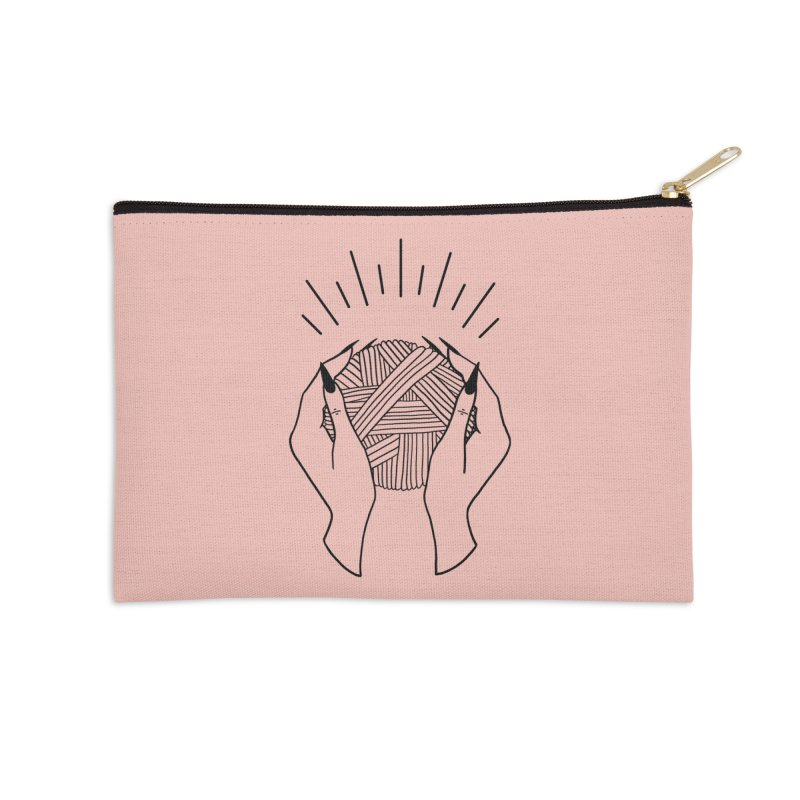 Yarnbearer- Black Accessories Zip Pouch by Wild Hunt