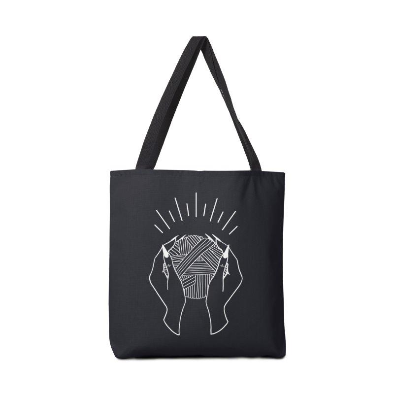 Yarnbearer- White Accessories Tote Bag Bag by Wild Hunt