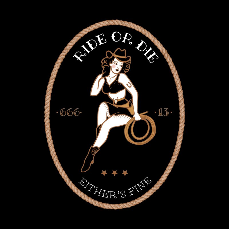 Ride or Die Transparent (Dark Colors) Men's T-Shirt by Wild Hunt