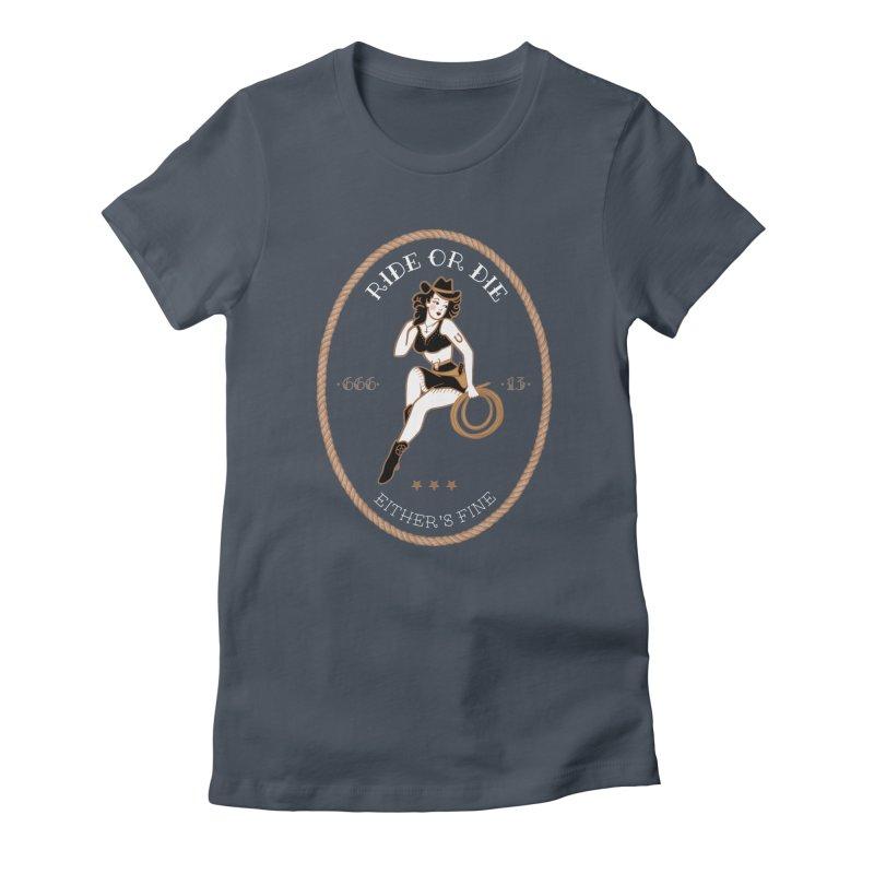 Ride or Die Transparent (Dark Colors) Women's T-Shirt by Wild Hunt