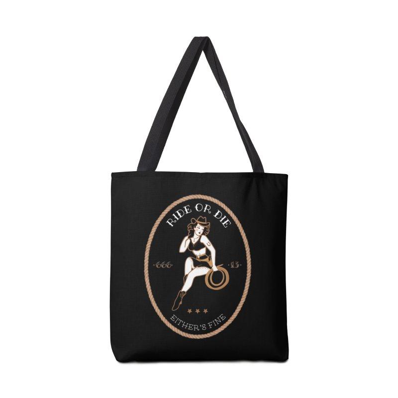 Ride or Die Transparent (Dark Colors) Accessories Tote Bag Bag by Wild Hunt