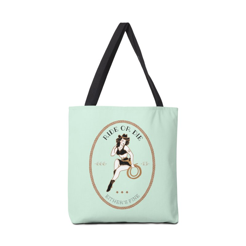 Ride or Die Transparent (Light Colors) Accessories Tote Bag Bag by Wild Hunt