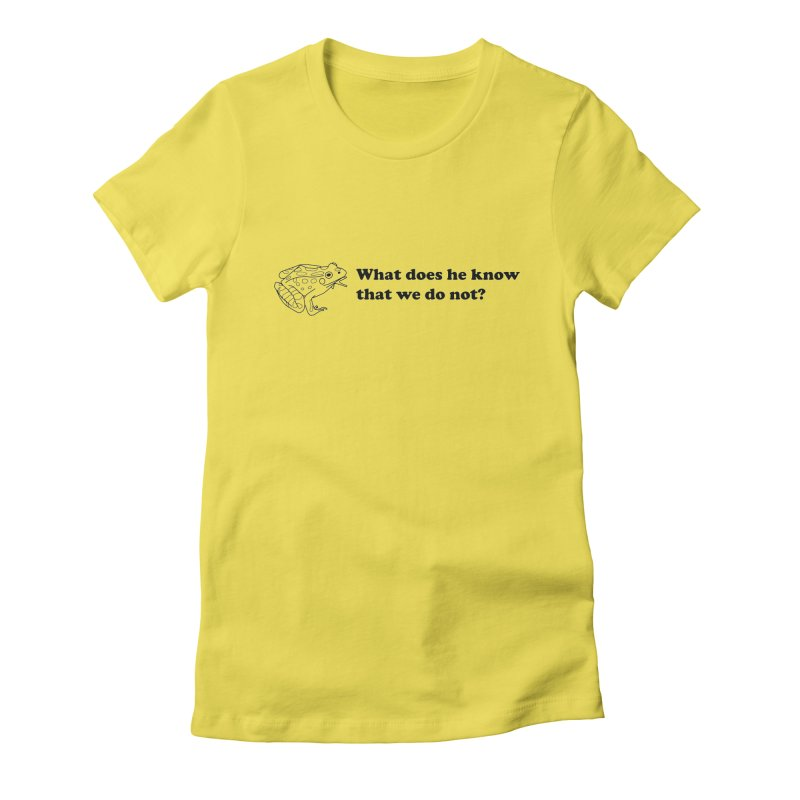 Wise Frog Women's T-Shirt by Wild Hunt