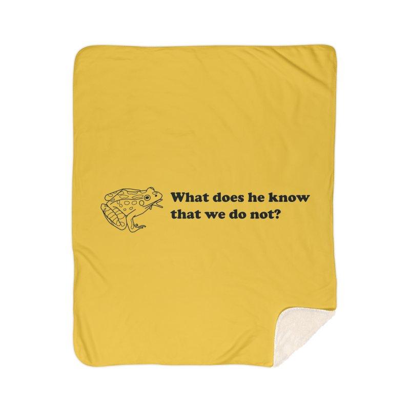 Wise Frog Home Sherpa Blanket Blanket by Wild Hunt