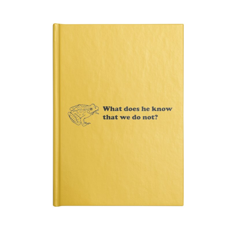 Wise Frog Accessories Lined Journal Notebook by Wild Hunt