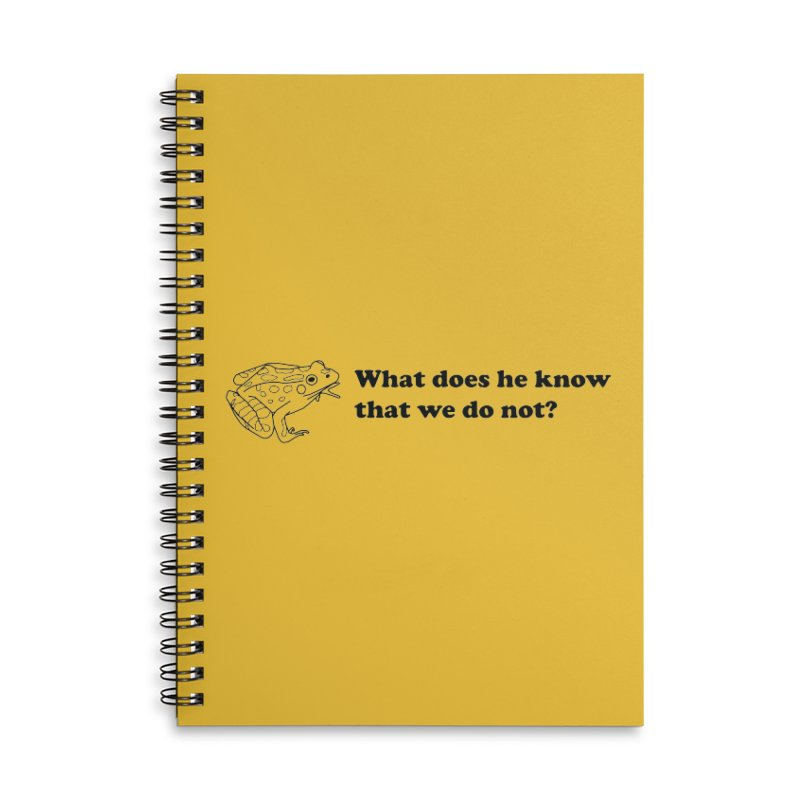 Wise Frog Accessories Lined Spiral Notebook by Wild Hunt