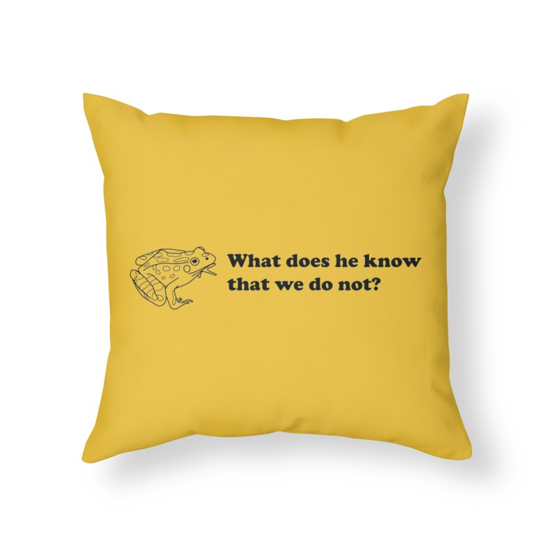 Wise Frog Home Throw Pillow by Wild Hunt