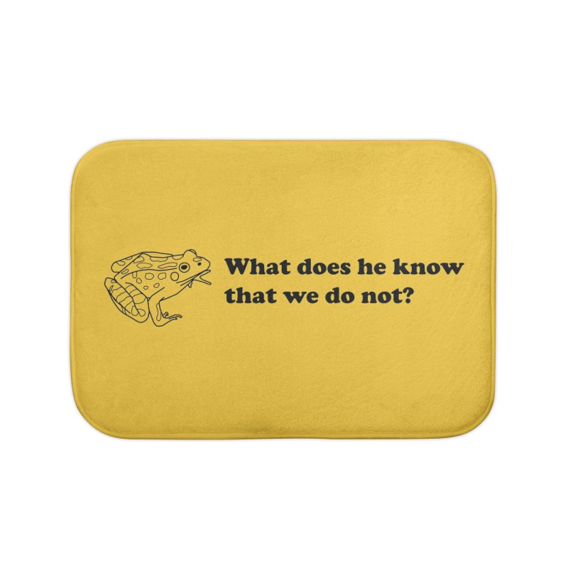 Wise Frog Home Bath Mat by Wild Hunt
