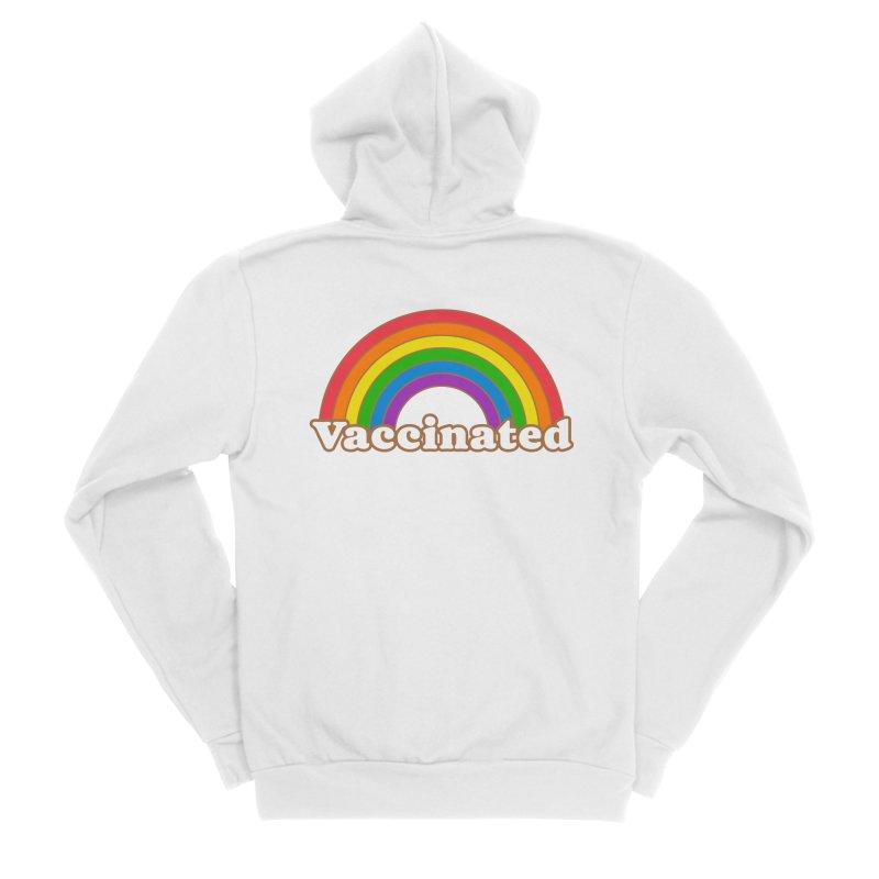 Vaccinated Rainbow Men's Zip-Up Hoody by Wild Hunt