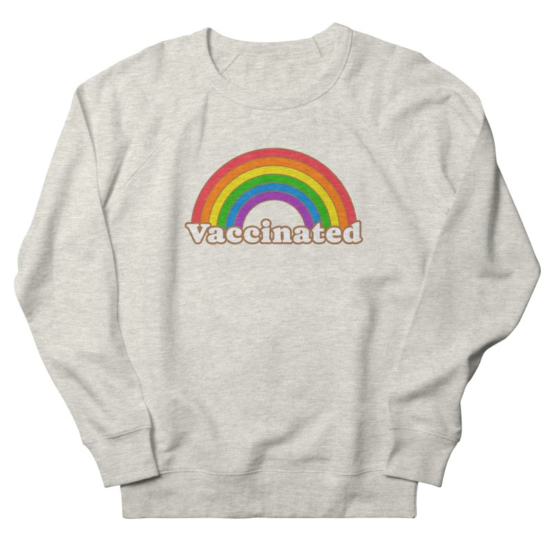 Vaccinated Rainbow Men's Sweatshirt by Wild Hunt