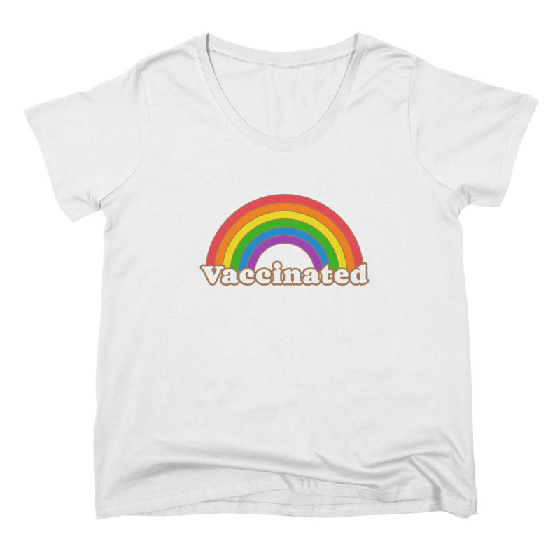 Vaccinated Rainbow Women's Scoop Neck by Wild Hunt
