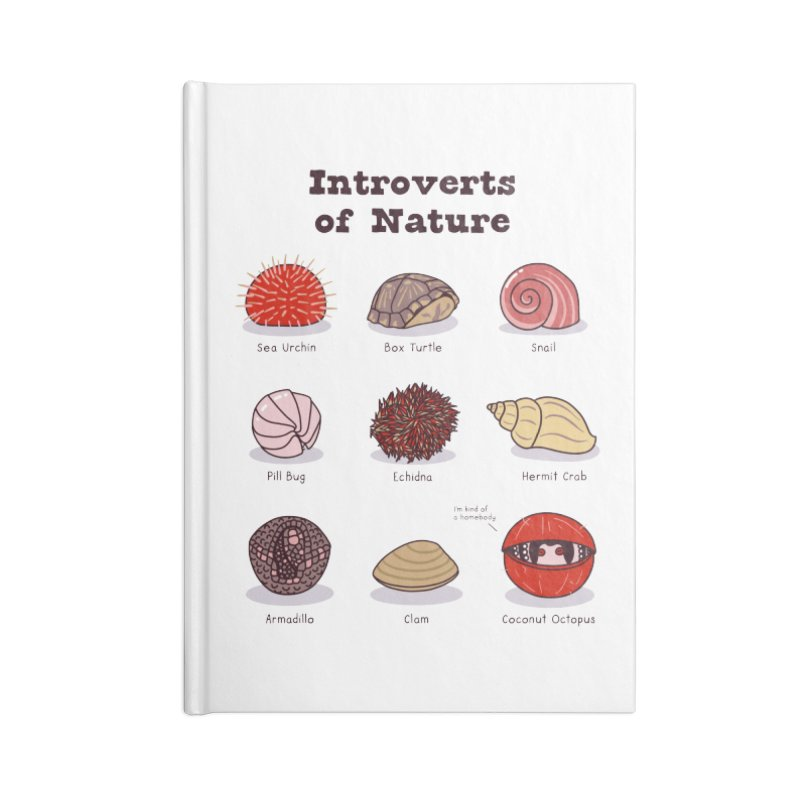 Introverts of Nature (Red/Gold) Accessories Notebook by Wild Hunt